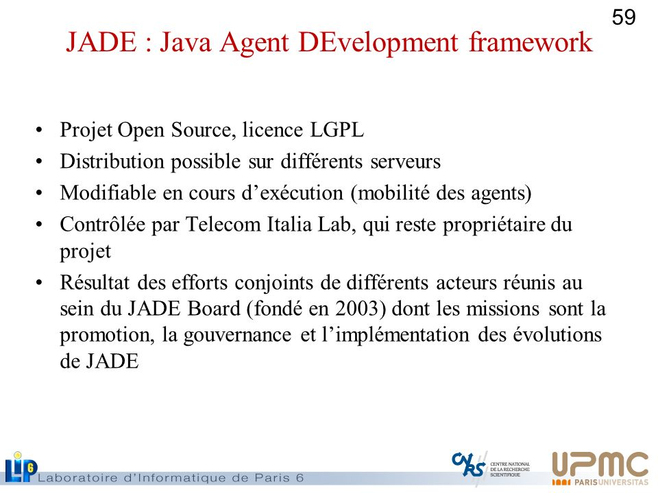 JADE : Java Agent DEvelopment framework