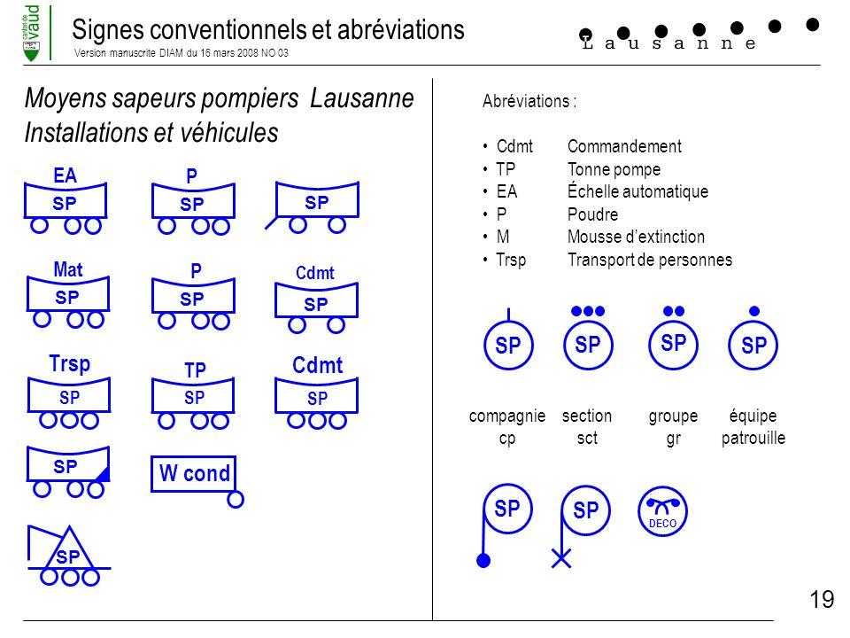 Moyens sapeurs pompiers Lausanne Installations et véhicules