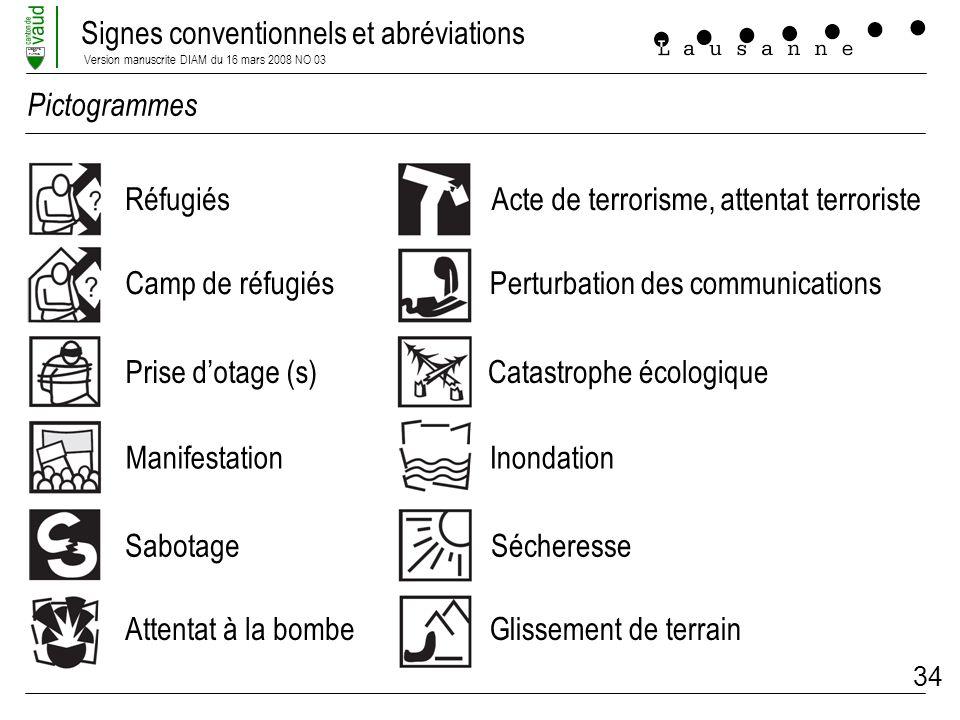 Pictogrammes Réfugiés. Acte de terrorisme, attentat terroriste. Camp de réfugiés. Perturbation des communications.