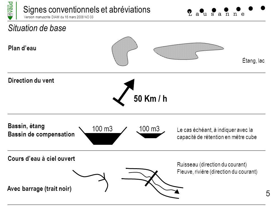 Situation de base 50 Km / h 100 m3 100 m3 Plan d'eau Direction du vent