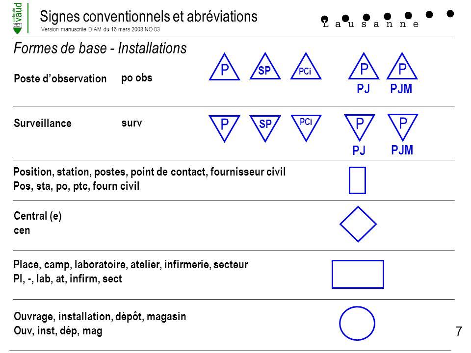 Formes de base - Installations P P P