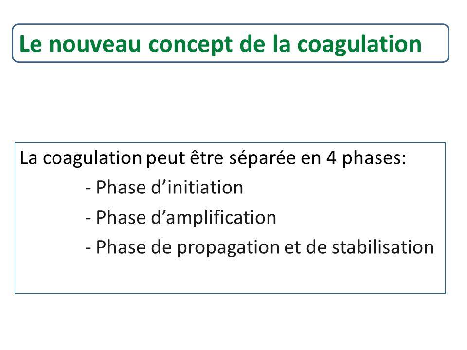 Le nouveau concept de la coagulation