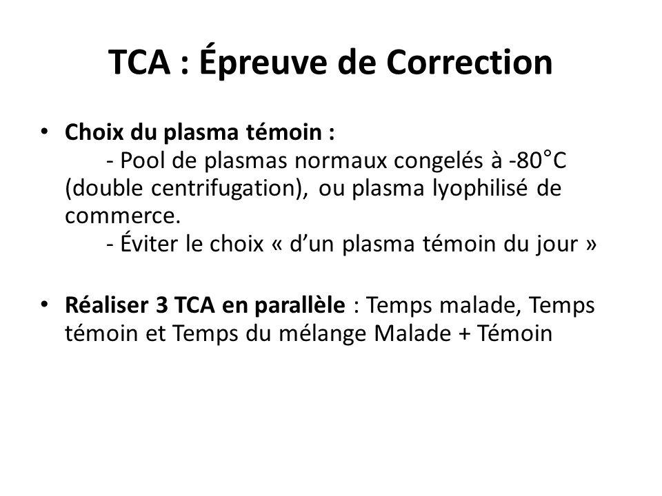 TCA : Épreuve de Correction