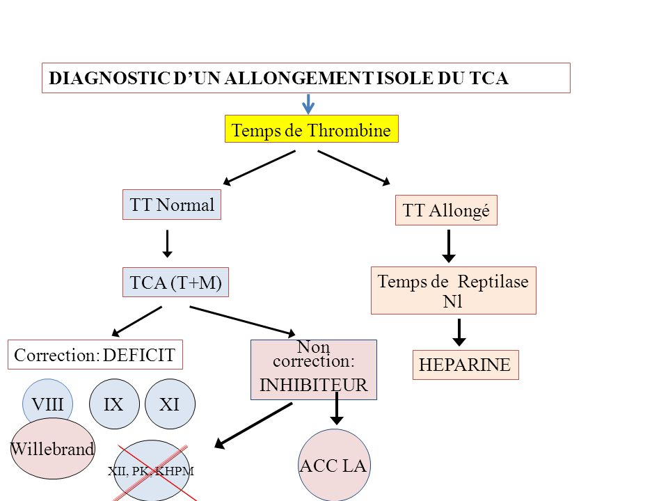 DIAGNOSTIC D'UN ALLONGEMENT ISOLE DU TCA