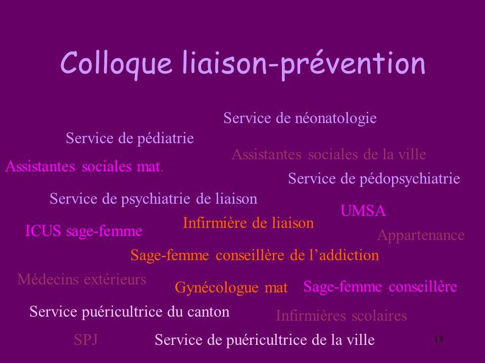 Colloque liaison-prévention