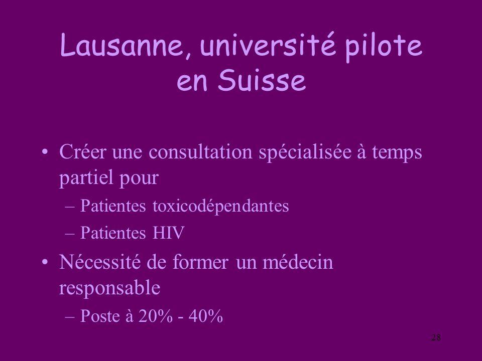 Lausanne, université pilote en Suisse
