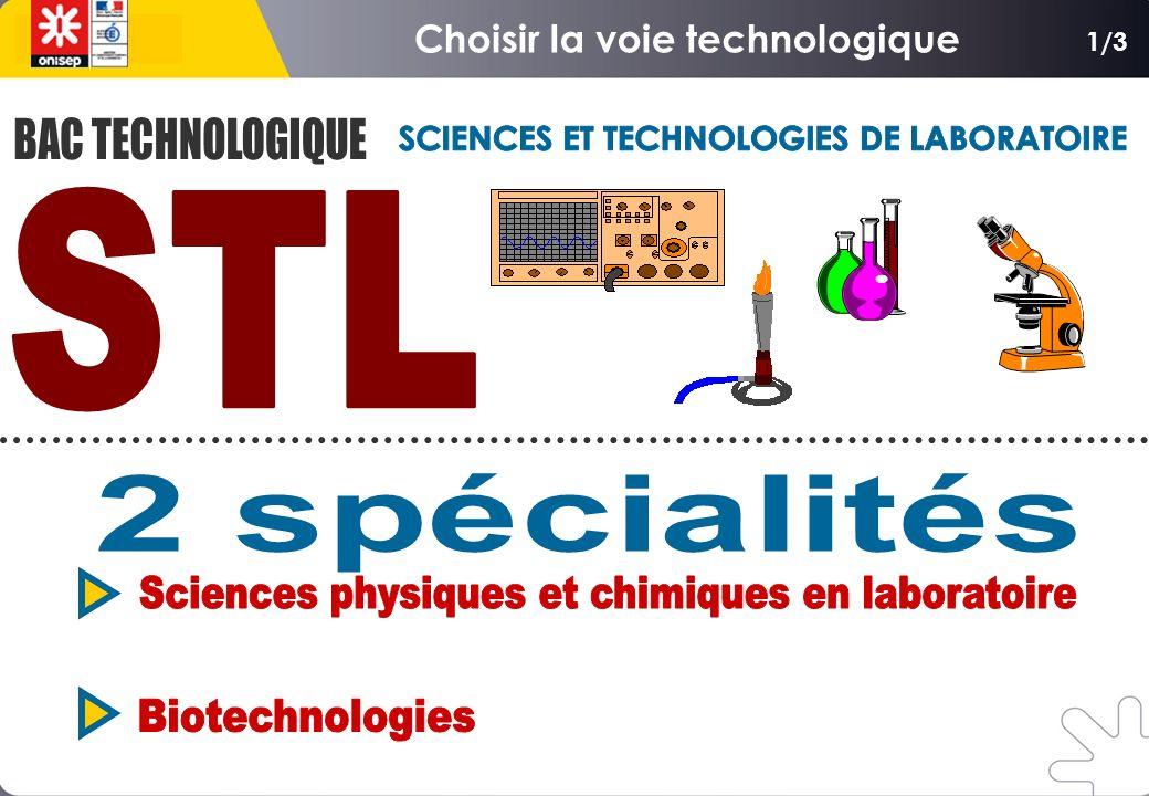Choisir la voie technologique SCIENCES ET TECHNOLOGIES DE LABORATOIRE