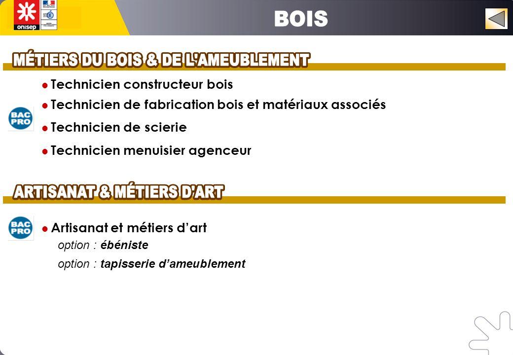 MÉTIERS DU BOIS & DE L AMEUBLEMENT MÉTIERS DU BOIS & DE L AMEUBLEMENT