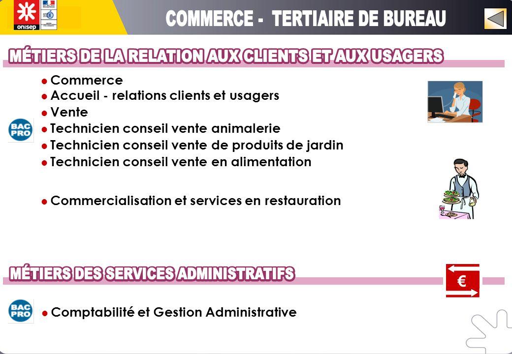 COMMERCE - TERTIAIRE DE BUREAU