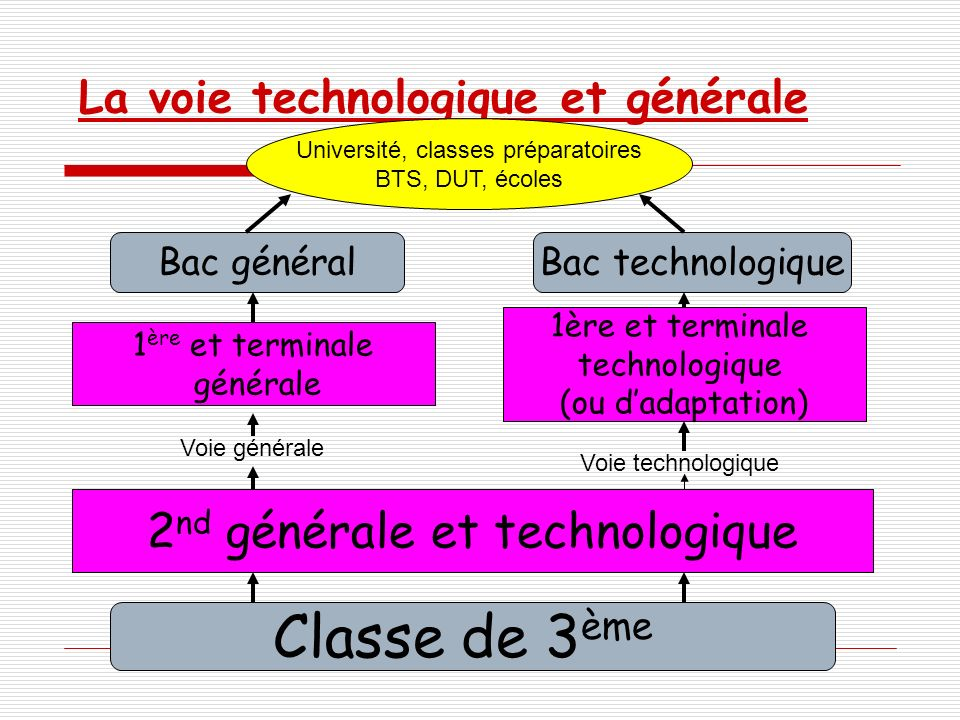 La voie technologique et générale