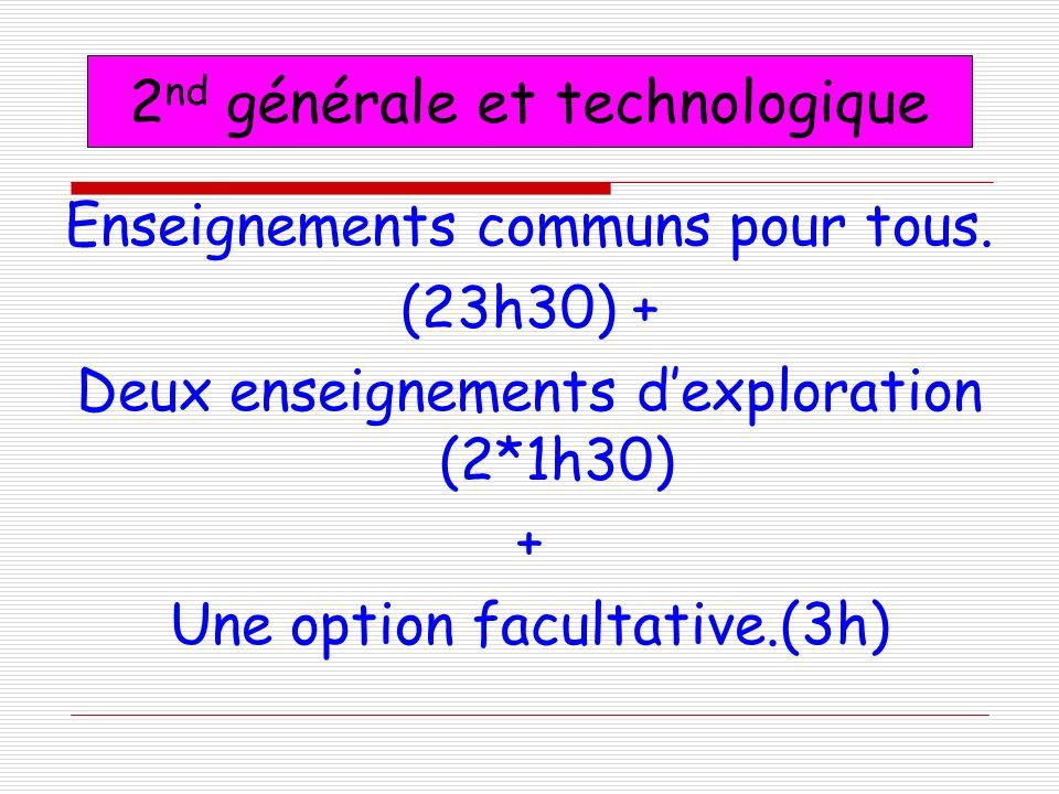 2nd générale et technologique
