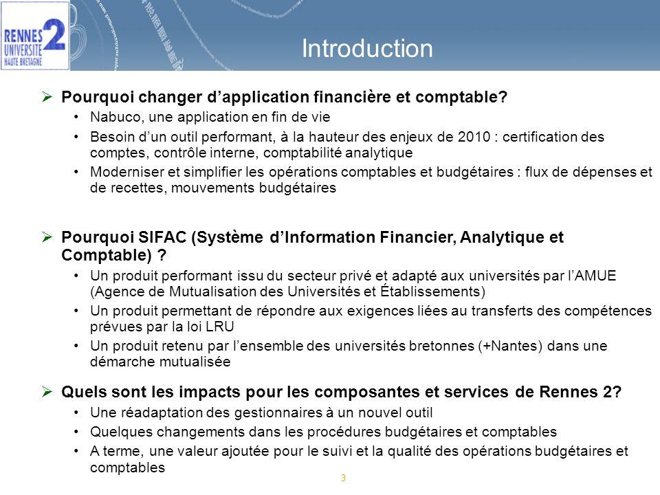 Introduction Pourquoi changer d'application financière et comptable