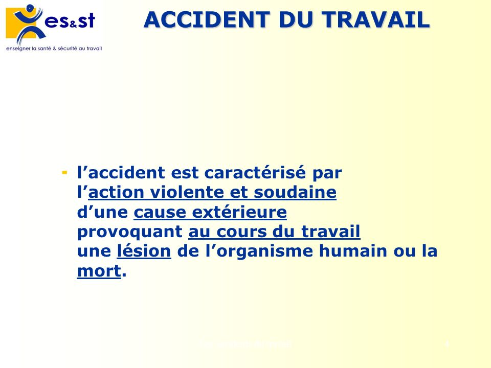 Les accidents du travail
