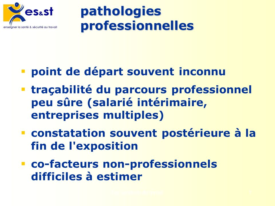 pathologies professionnelles