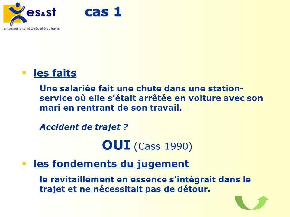 cas 1 OUI (Cass 1990) les faits les fondements du jugement