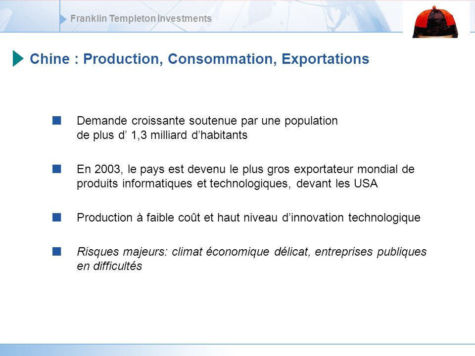 Chine : Production, Consommation, Exportations