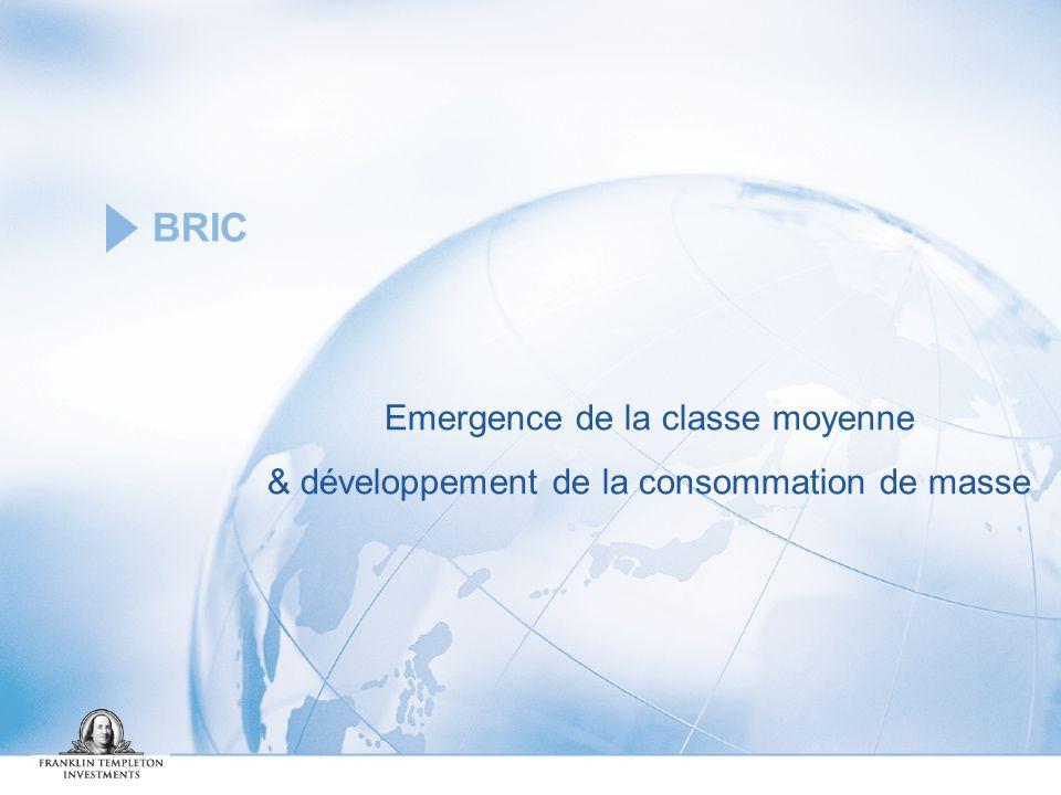BRIC Emergence de la classe moyenne