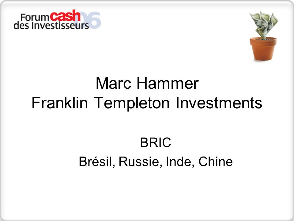 Marc Hammer Franklin Templeton Investments