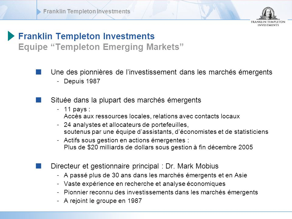 Franklin Templeton Investments Equipe Templeton Emerging Markets