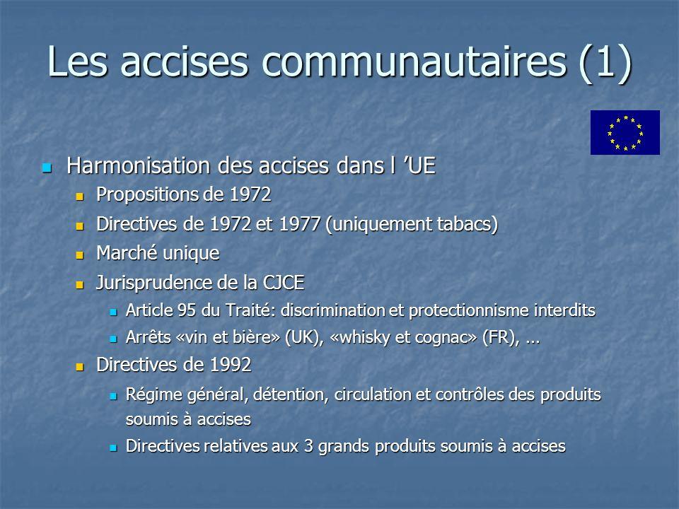 Les accises communautaires (1)