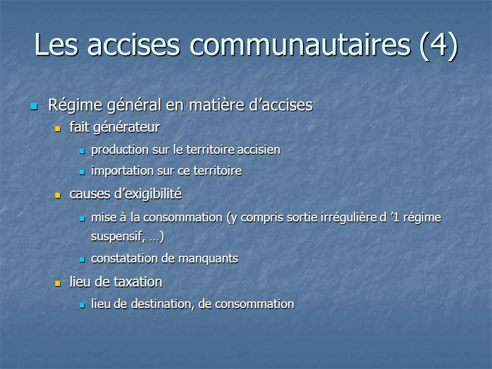 Les accises communautaires (4)