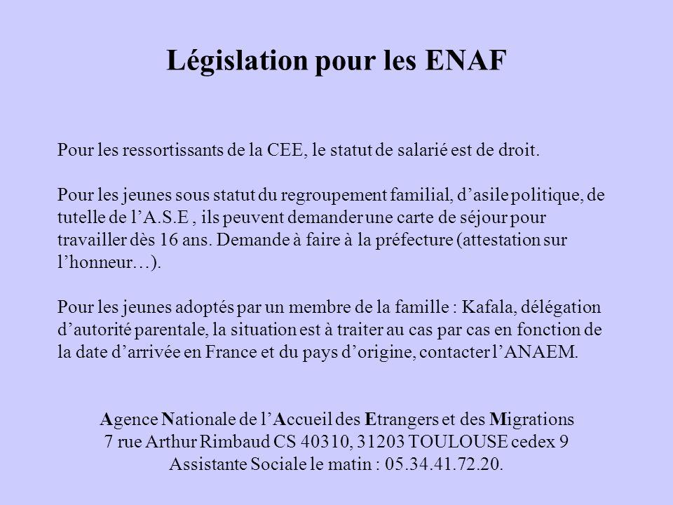 Législation pour les ENAF