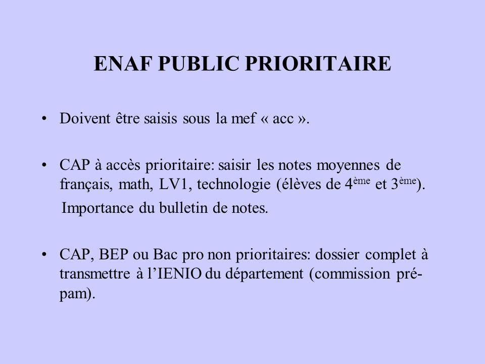 ENAF PUBLIC PRIORITAIRE