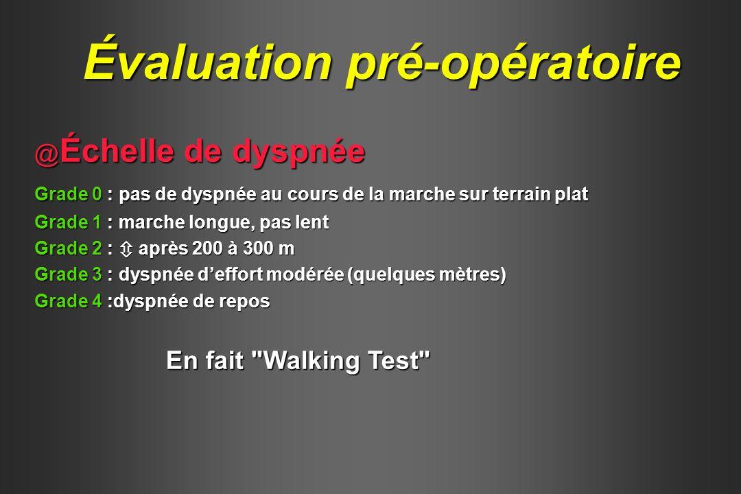 Évaluation pré-opératoire