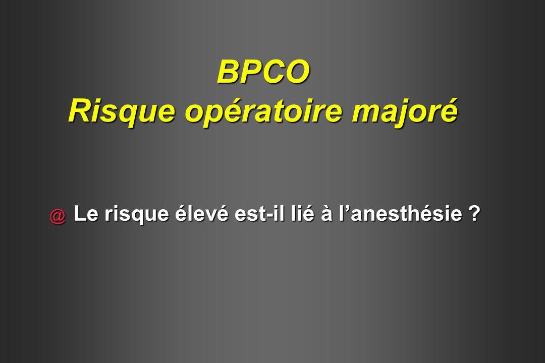 BPCO Risque opératoire majoré