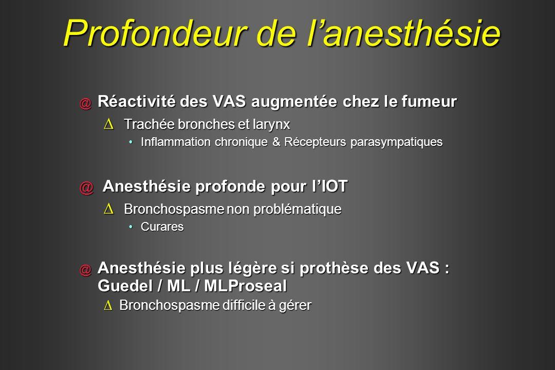 Profondeur de l'anesthésie