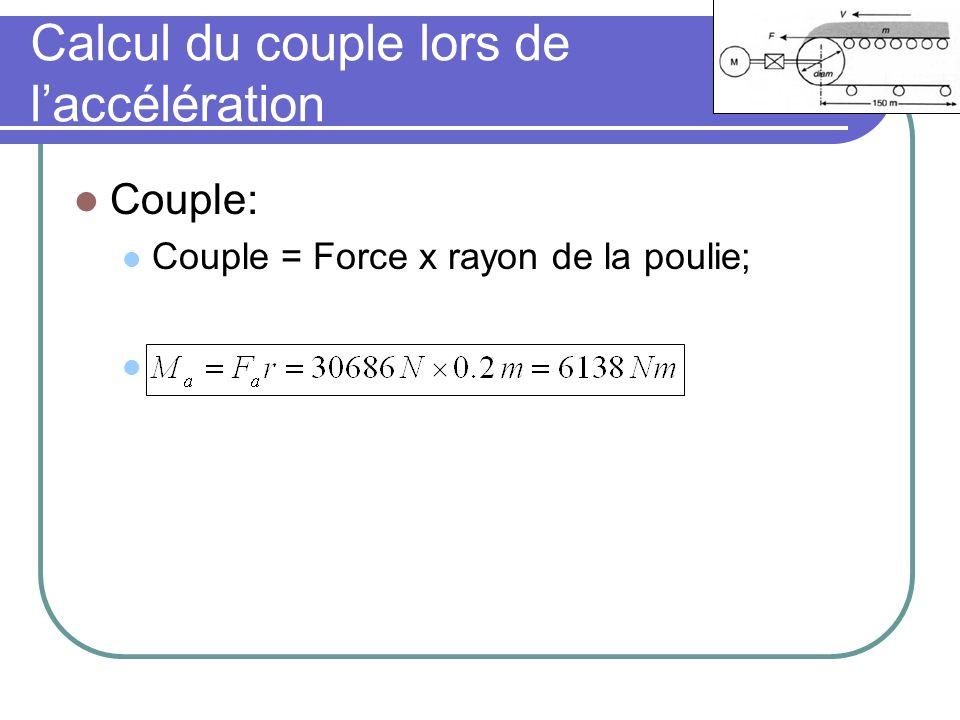 Calcul du couple lors de l'accélération