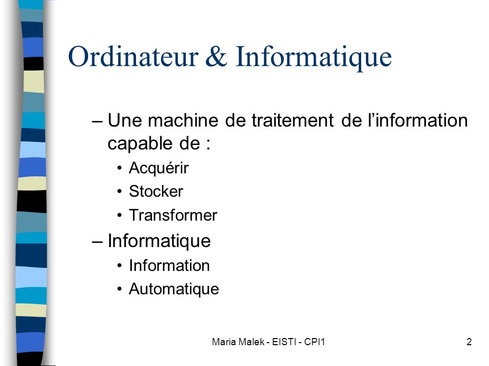 Ordinateur & Informatique