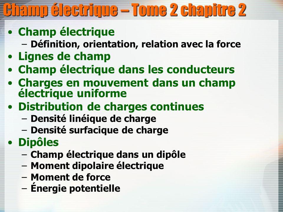 Champ électrique – Tome 2 chapitre 2