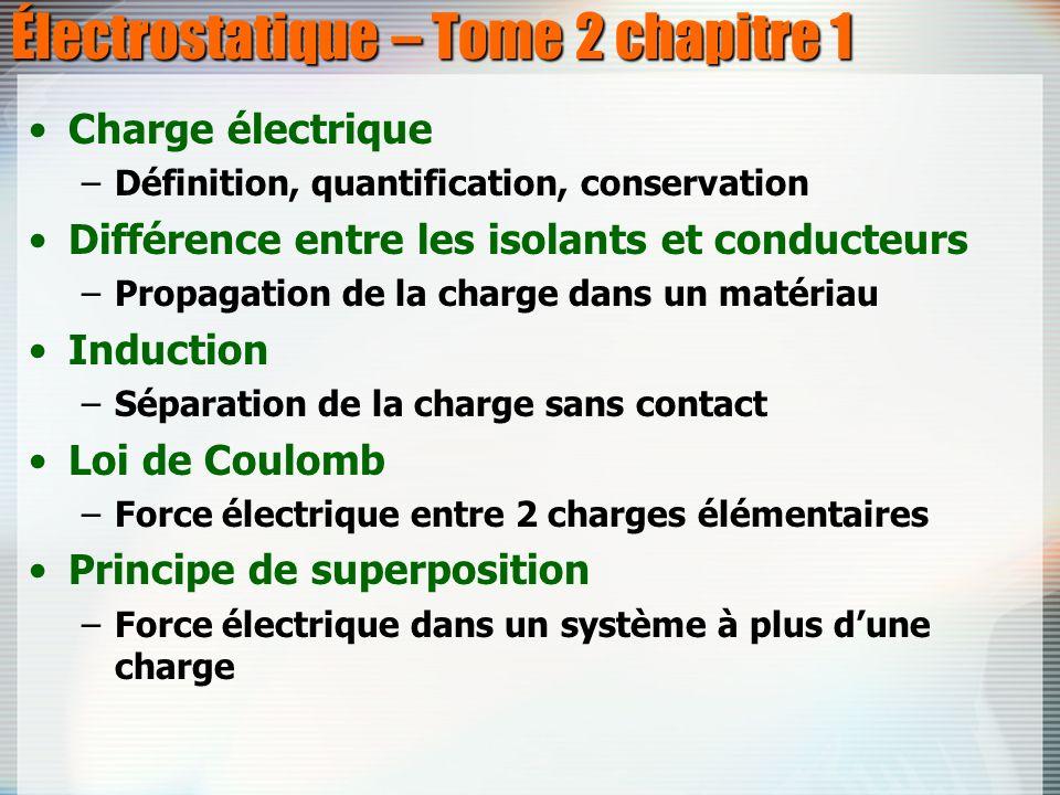 Électrostatique – Tome 2 chapitre 1
