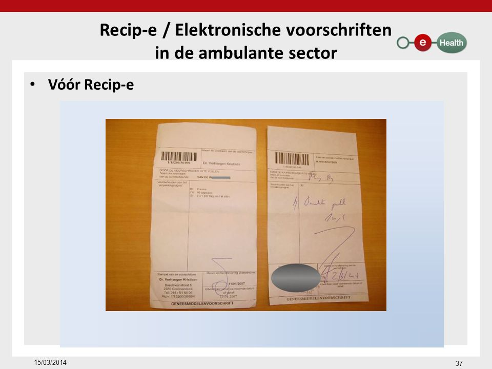 Recip-e / Elektronische voorschriften
