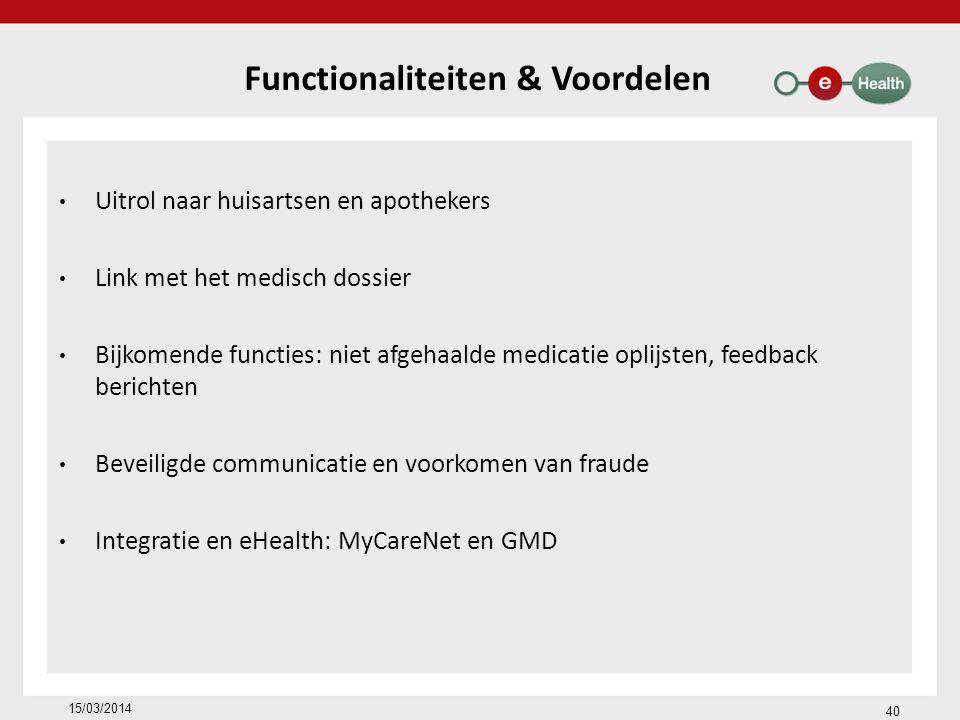 Functionaliteiten & Voordelen
