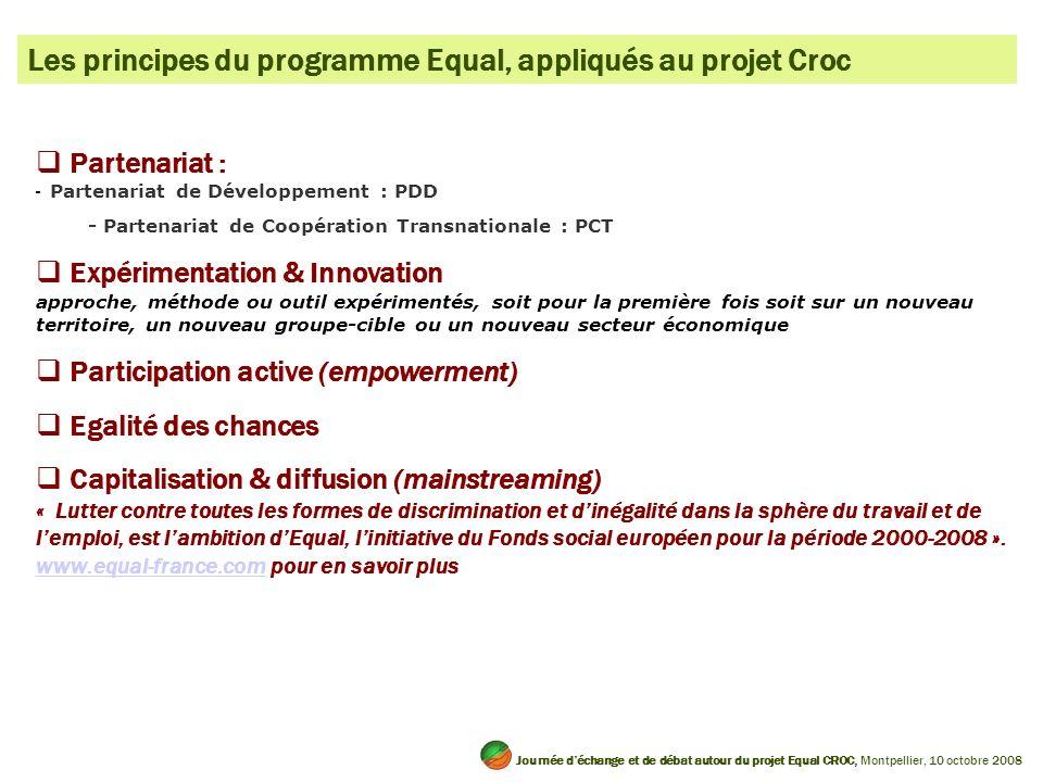 Les principes du programme Equal, appliqués au projet Croc