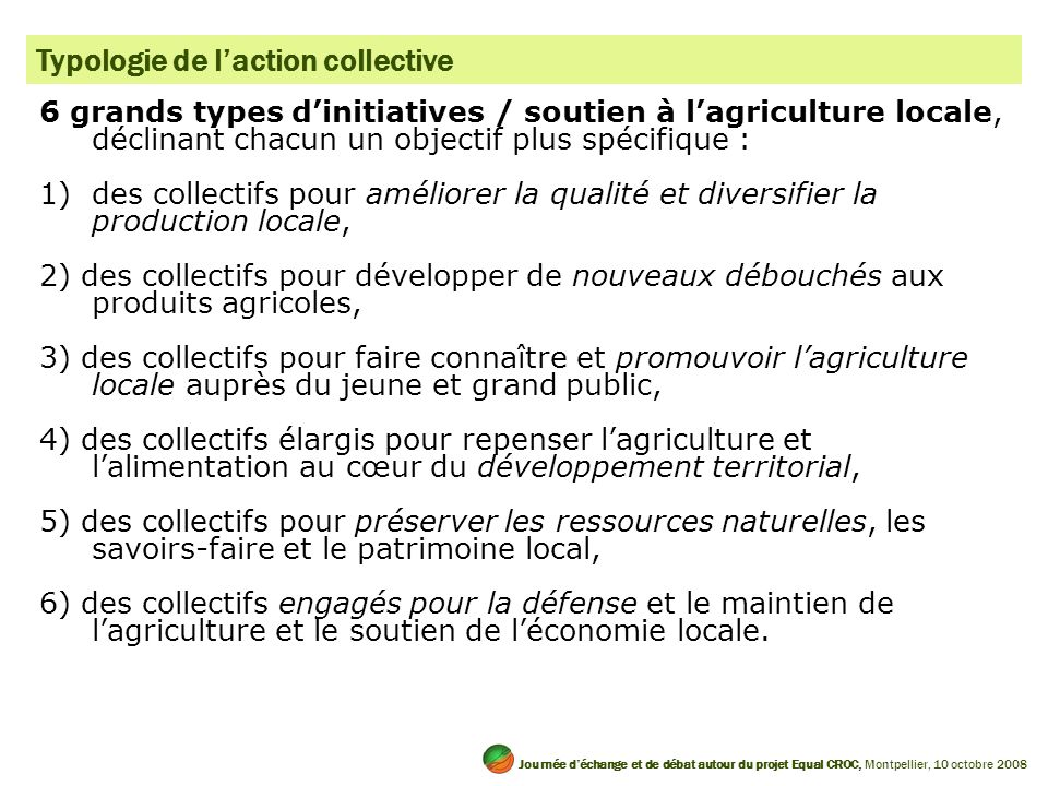 Typologie de l'action collective
