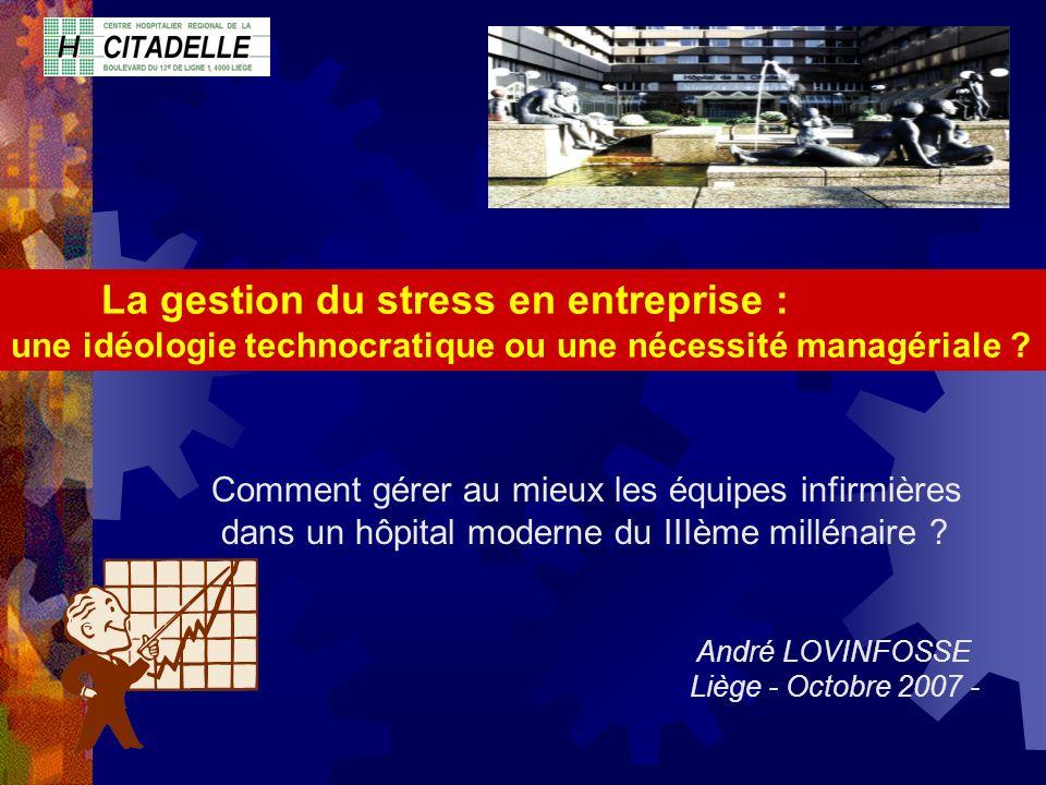 La gestion du stress en entreprise :