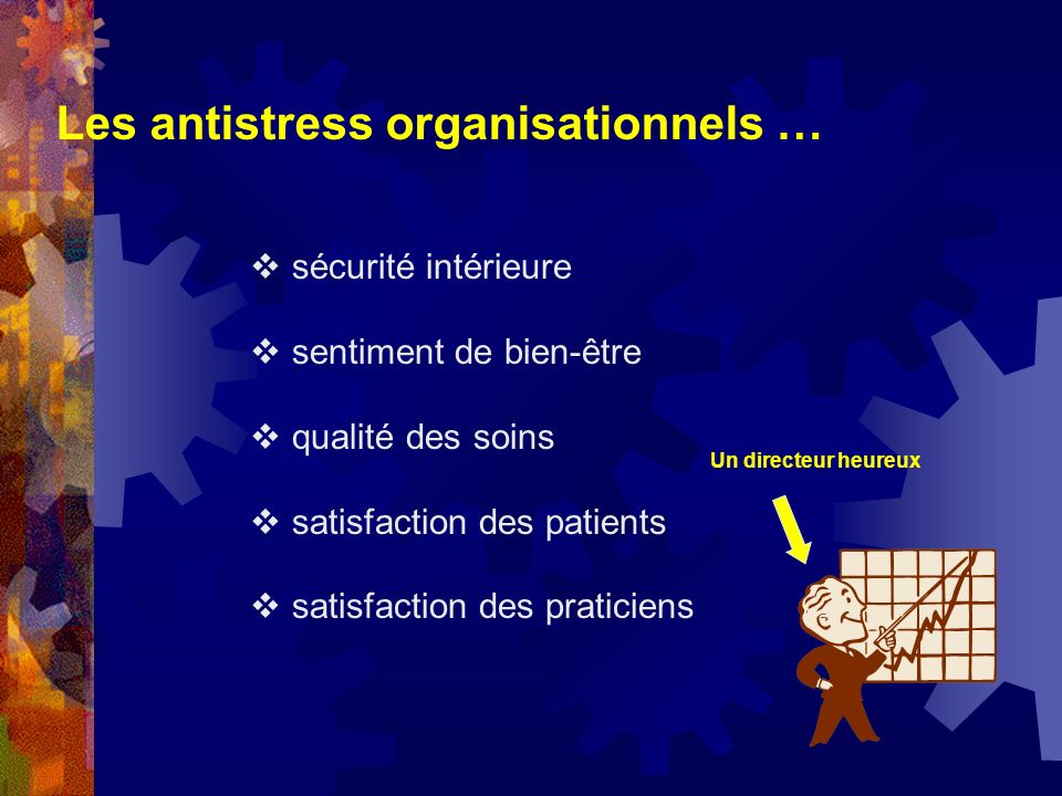 Les antistress organisationnels …