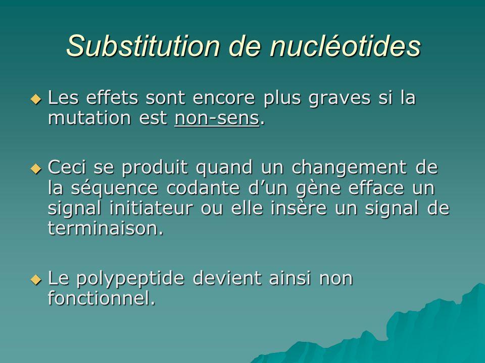 Substitution de nucléotides