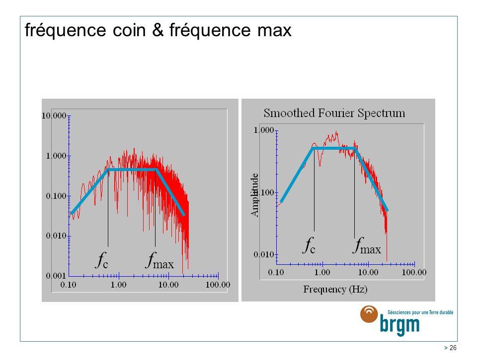 fréquence coin & fréquence max