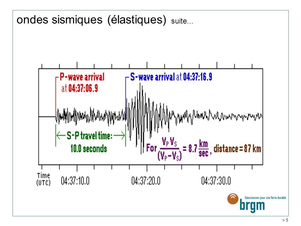 ondes sismiques (élastiques) suite...