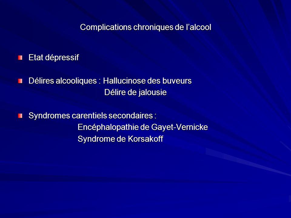 Complications chroniques de l'alcool