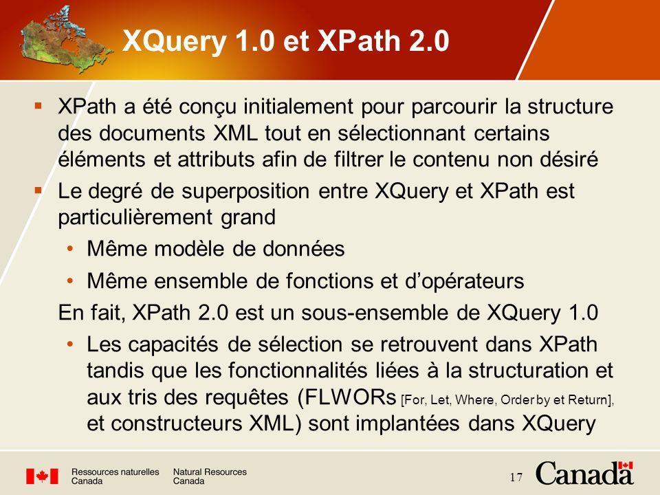 XQuery 1.0 et XPath 2.0