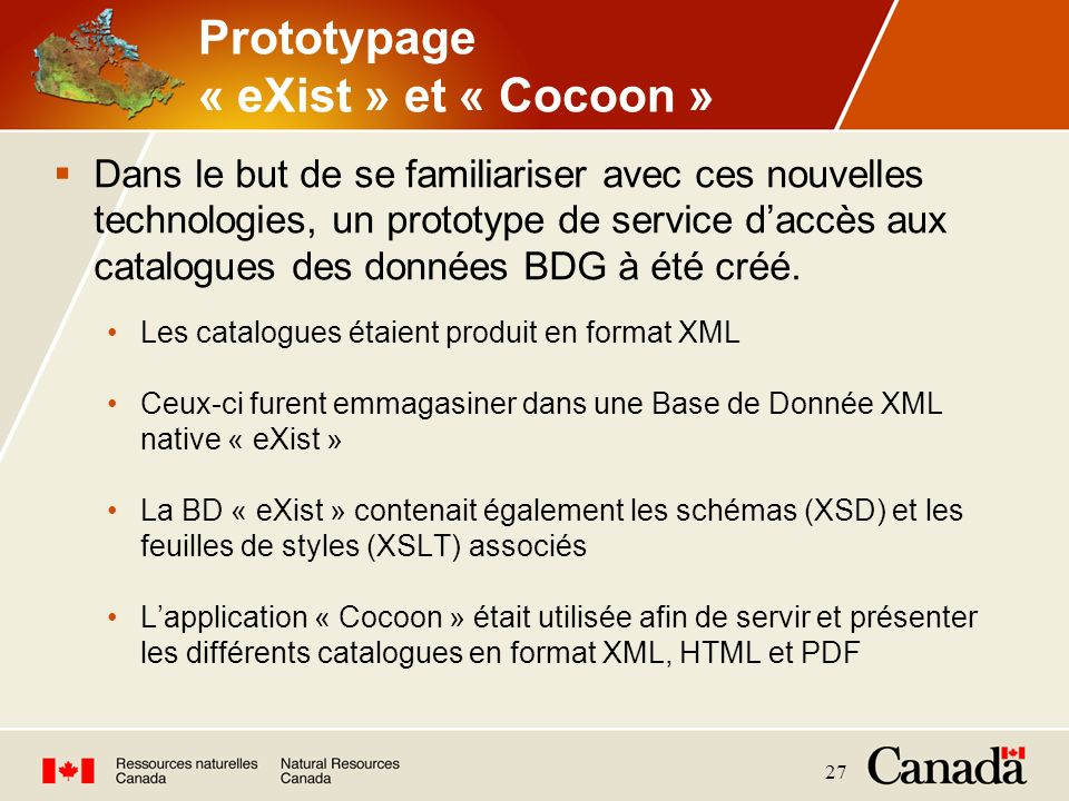 Prototypage « eXist » et « Cocoon »
