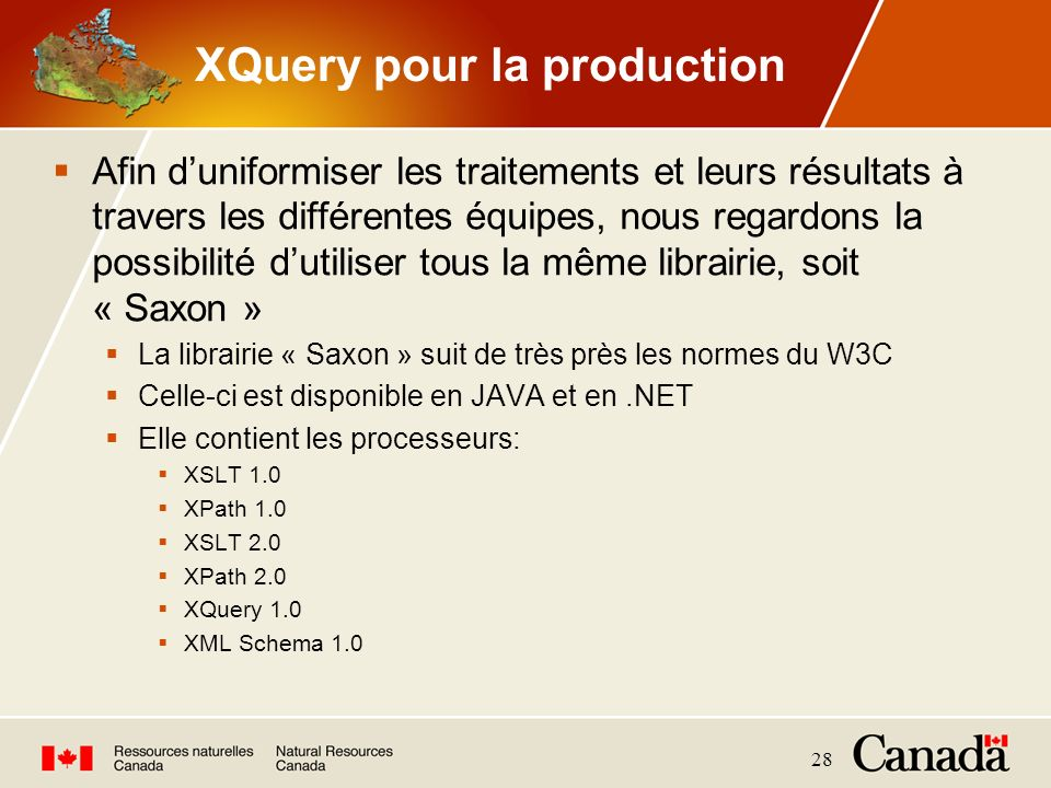 XQuery pour la production