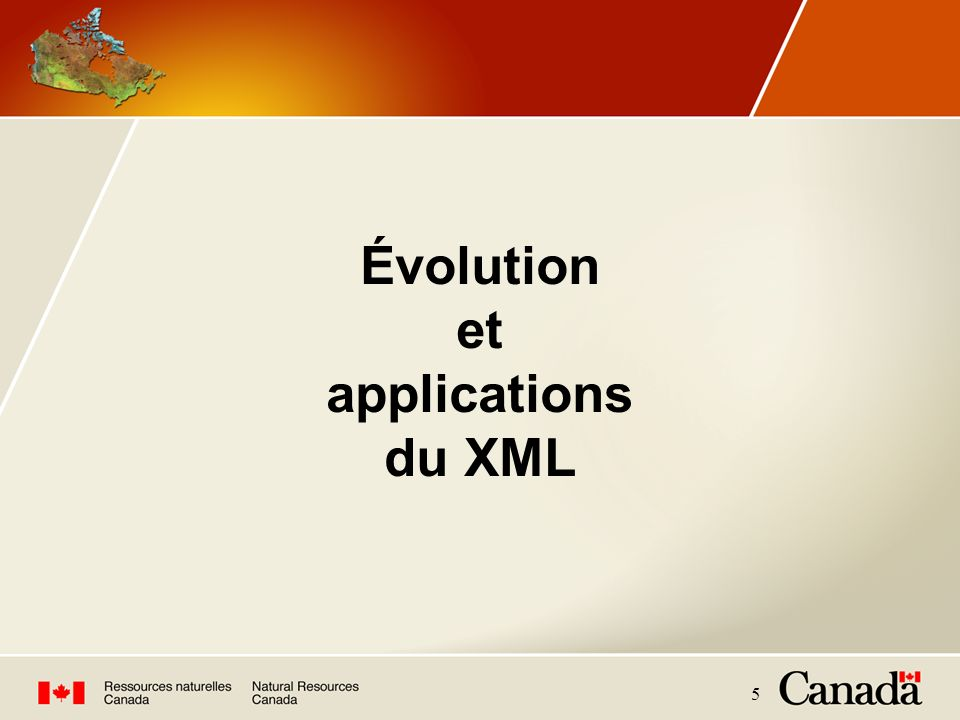 Évolution et applications du XML