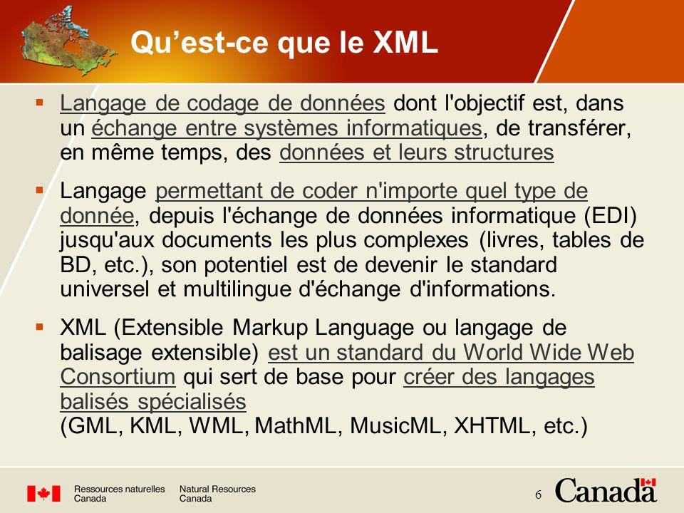 Qu'est-ce que le XML