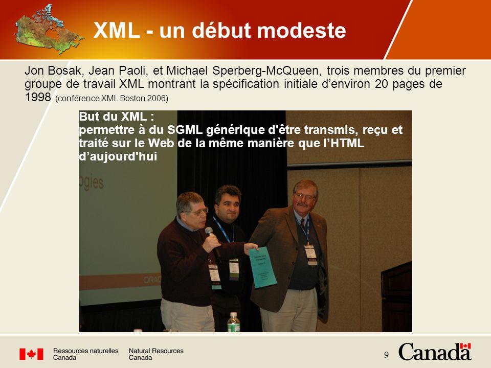 XML - un début modeste